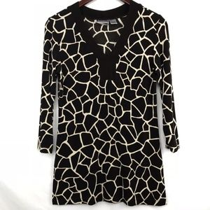 Chicos Speckled Giraffe Print Tunic Top Size 0